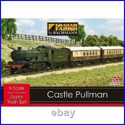 370-160 Bachmann N Gauge Castle Pullman Digital Sound Train Starter Set DCC New