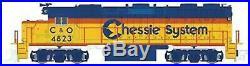 ATLAS 40004144 N SCALE Alco GP-38 Chessie C&O #4823 LOKSOUND DCC & SOUND
