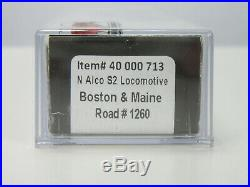 Atlas 40 000 713 N Scale Boston & Maine S2 Diesel Locomotive #1260 Sound/DCC New