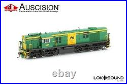 Auscision (600-10s) 607-N AN Green & Yellow-Green Roof with DCC Sound HO Scale