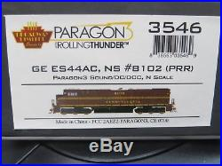 BLI (N-Scale/3546) NS/PRR GE ES44AC #8102 SOUND/DC/DCC/ Rolling Thunder