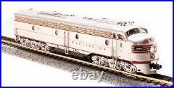 BROADWAY LIMITED 3618 N E8 A-unit CB&Q #9985-B Stainless Paragon3 Sound/DC/DCC