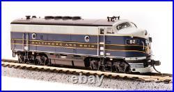 BROADWAY LIMITED 3784 N F3A B&O 82A Blue/Gray/Yellow Paragon3 Sound/DC/DCC