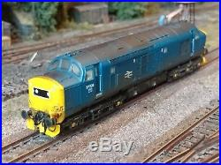 Bachmann Graham Farish Weathered DCC sound fitted class 37. BR blue diesel loco