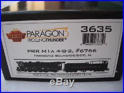 Broadway Limited 3635 DC/DCC Sound, PRR 6766 M1A 4-8-2 Steam Locomotive, N Scale