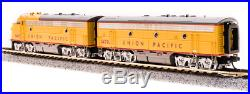 Broadway Limited 3814 N Scale EMD F7 A/B, UP 1467/1470B Yellow & Gray, DCC Sound