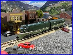 CUSTOM PAINTED Northern Pacific (NP) KATO N Scale FP7A & F7B DC/DCC/SOUND