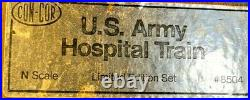 Con-Con N Scale U. S. Army Hospital Train Dcc, Sound And Keep Alive. Limited Edit