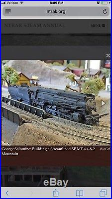 Custom N Scale Key Imports Brass Resin Southern Pacific SP MT4 4-8-2 DCC/Sound