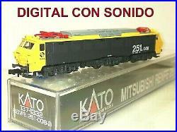 DCC SOUND KATO 137-1322 Eléctrica 251 008-9 RENFE TAXI OVP Escala N