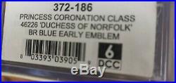 Farish 372-186 N Gauge Princess Coronation Class Duchess of Norfolk DCC Sound