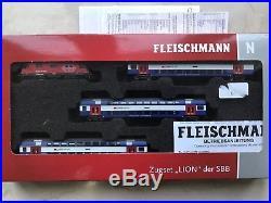 Fleischmann 734076 N gauge Swiss Electric Train Set of the SBB DCC Sound