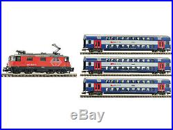 Fleischmann 734077 DCC + Sound Zugset Elektrolok Re 4/4II Lion 2. + 3 Doppelst