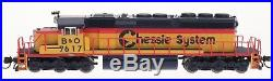 InterMountain N Scale 69347(D)(S) Chessie System SD40-2 Locomotive