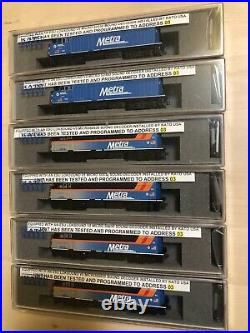 Kato N scale Amtrak and Metra F40PH factory installed LokSound DCC and sound