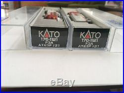 Kato Santa Fe F3 #21&21c Aa 176-1121 Atsf War Bonnet DCC Both Units Sound In 1