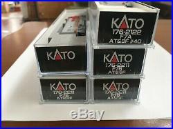 Kato Santa Fe F7 #40 Abbba (atsf War Bonnet) Dcc&sound Both A Units