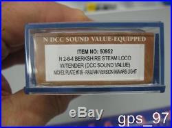 N Bachmann 50952 Nickel Plate #759 Railfan Ver. DCC Sound(N Berkshire 2-8-4)