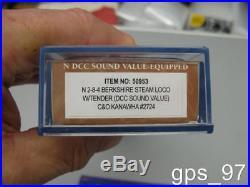 N Bachmann 50953 C&O Kanawha #2724 DCC Sound Value (N Berkshire 2-8-4)