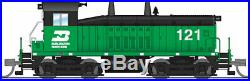 N-SCALE Broadway Limited 3876 EMD SW7 Sound and DCC Burlington Northern 125
