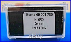 N Scale ATLAS GOLD 40 003 730 CONRAIL SD35 Loco # 6012 DCC & ESU Sound