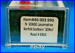 N Scale ATLAS GOLD 40 003 990 NORFOLK SOUTHERN SD60E Loco # 6963 DCC & SOUND