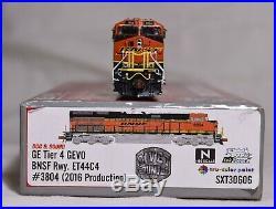 N Scale Bnsf Ge Tier 4 Gevo Loco #3804 DCC & Sound Scale Trains Et44c4