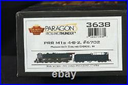 N Scale Broadway Limited PRR M1b 4-8-2 #6702 DCC/DC Sound New DEFECTIVE