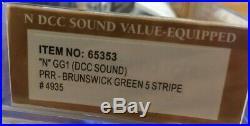 N Scale GG1 Bachmann #65353 DCC Sound PRR Brunswick Green 5-Stripe #4935