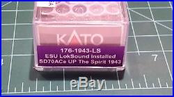 N Scale KATO SD70ACe Union Pacific'The Spirit' DCC & SOUND Item #176-1943-LS