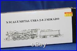 N Scale Model Power USRA 2-8-2 Mikado Locomotive DCC withSound