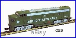 N Scale US ARMY FP-7 METAL LOCOMOTIVE DCC & SOUND Equipped Model Power New 89454