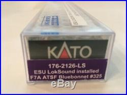 N scale Kato 176-2126-LS F7A Santa Fe ATSF bluebonnet #325 DCC ESU sound