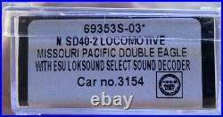 N scale intermountain locomotive ESU dcc/sound missouri pacific SD40-2 MP Mopac