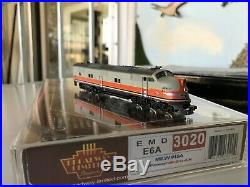 N scale locomotive emd E6A broadwaylimited dcc+sound milw#15A 3020 mars light