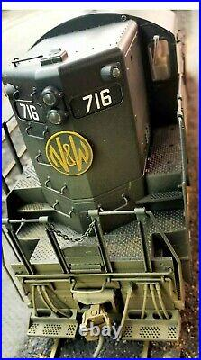 O scale 2 rail Atlas N&W GP-9 #716 With DC/DCC Quantum Sound