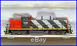 Rapido 1/160 N Scale Cn Stripe Gmd-1a Locomotive Rd# 1435 Dcc/sound 070537 F/s