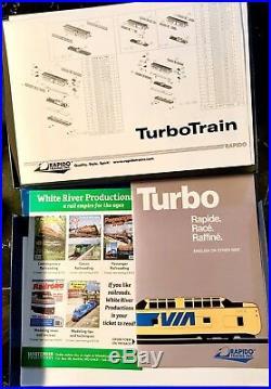 Rapido 520502, N Scale, TurboTrain, Penn Central-U. S. DOT, 3-Car Set, DCC-Sound