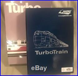 Rapido Turbo Early Amtrak 5-car set DCC + Sound by ESU NIB N-Scale Free Shipping